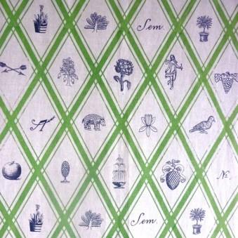 Detail Wandbehang, Vorhang, im Siebdruck von Hand gedruckt