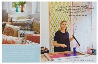 """Zeitschrift """"Living at home"""" 5/17 Alexandra Lenz Siebdruck"""