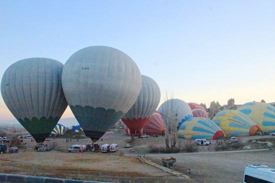 Hot Air Balloon Ride in Cappadocia - Balloons getting ready