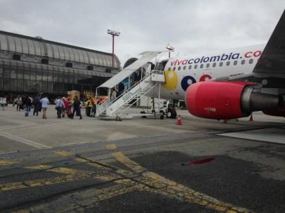Landing in Medellin