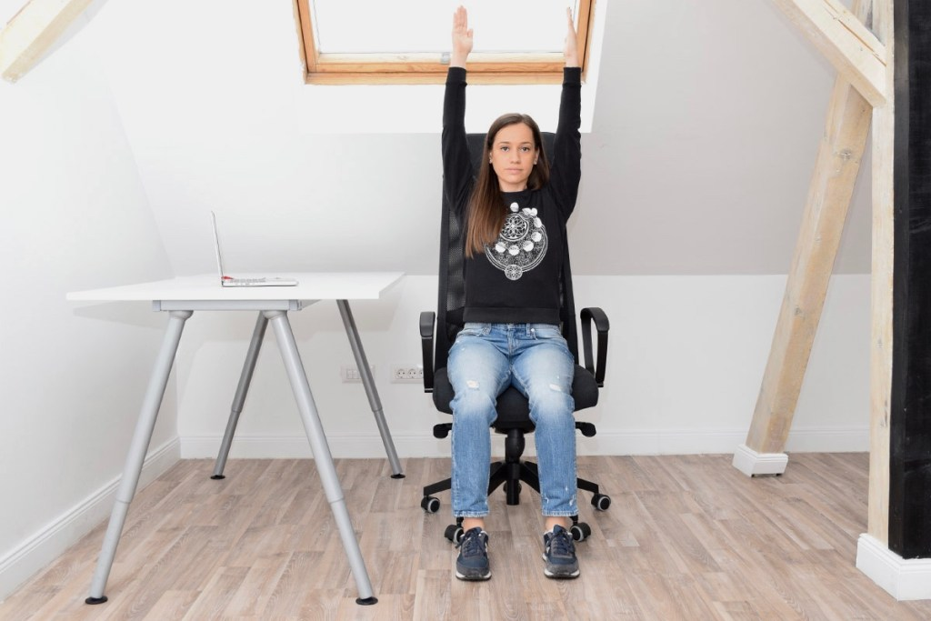 Chair Raised Hands Pose