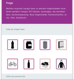 Screenshot Frage Recycling