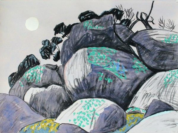 'Rocks and winter sun, Nuggety Hills' Mark Dober