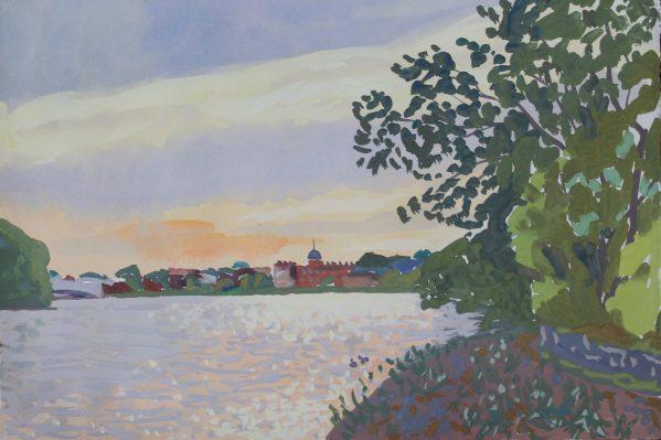 Mark Dober Thames painting