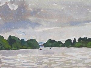 Thames landscape (Summer drizzle, Mortlake) Mark Dober