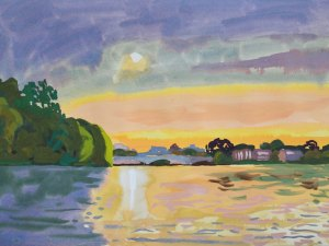 Thames landscape (setting sun, looking towards Barnes) Mark Dober