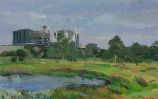 Painting of the wetlands at Newell's Paddock by Alexandra Sasse