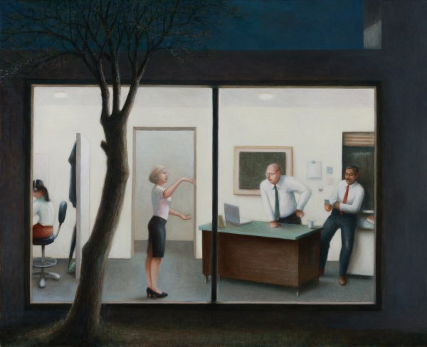 Painting by John Scurry An Office at Dusk, 2018