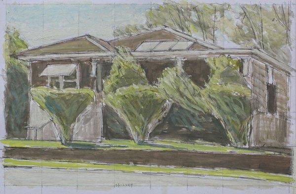 Hendrik Kolenberg drawing 'Front yard, Rutledge St, Eastwood'