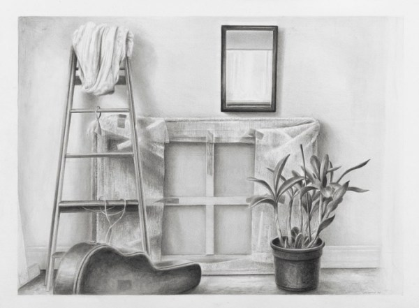 Drawing by John Scurry 'Studio interior'