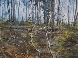 Watercolour painting 'Sources elusive measure' Phillip Edwards
