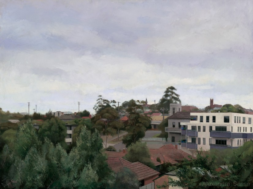 A Quiet Day in Northcote Australian Landscape Paintings Alexandra Sasse