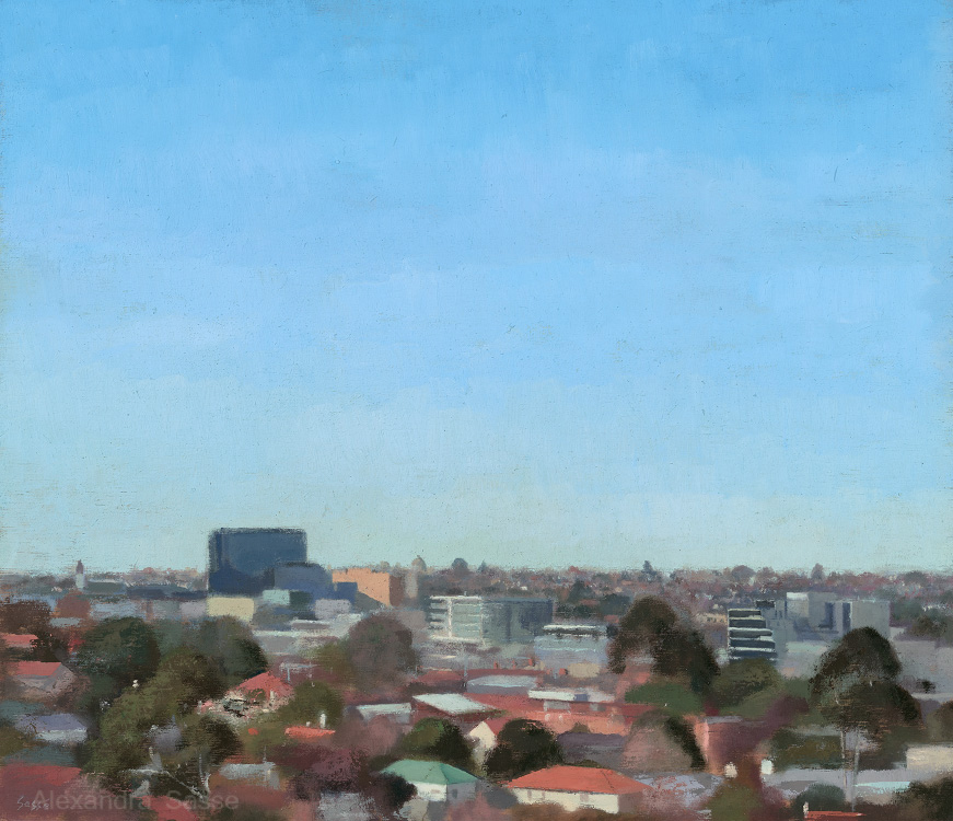 Clear Day Camberwell Australian Landscape Paintings Alexandra Sasse