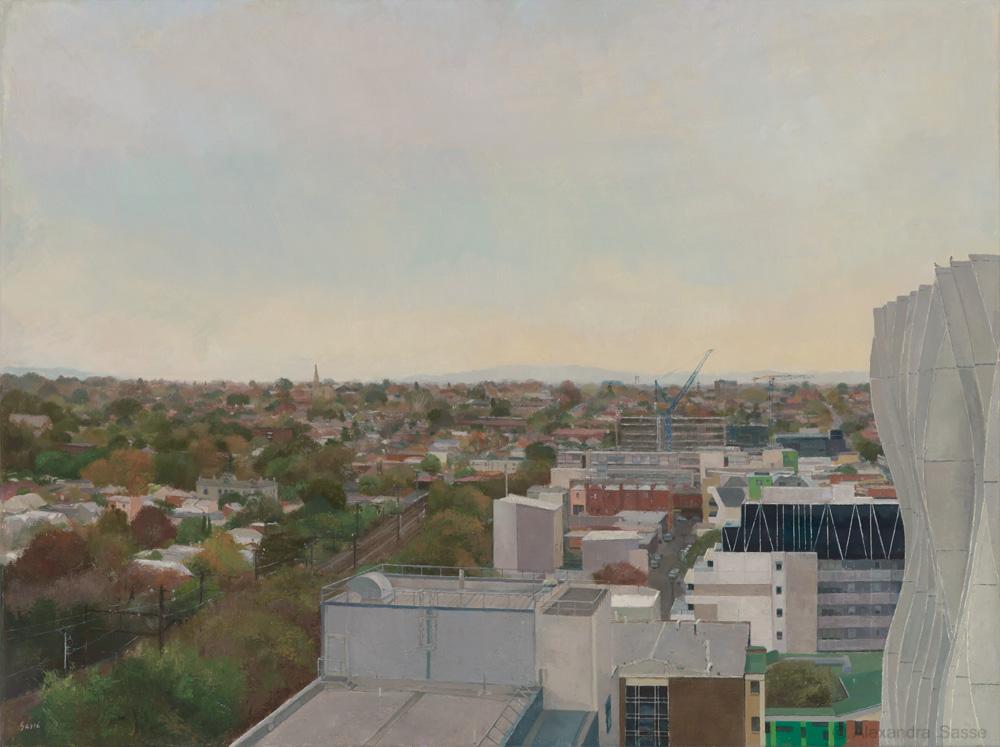 Australian Landscape Painting 'Hawthorn towards Camberwell' Alexandra Sasse