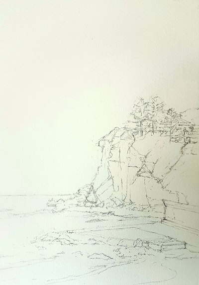 Northern Beaches, Sydney, Pencil on paper.