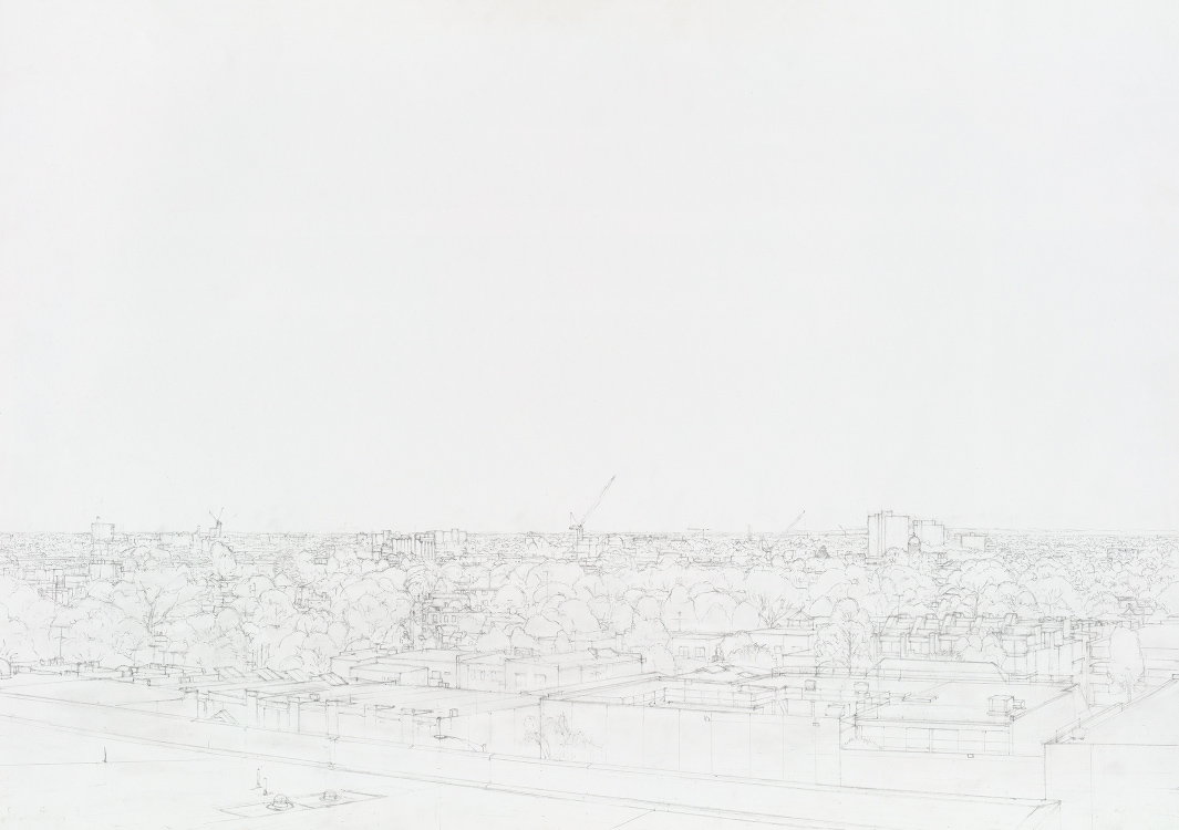 Pencil drawing of North Melbourne by Alexandra Sasse