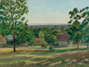 Alexandra Sasse painting of Greythorn Park Balwyn