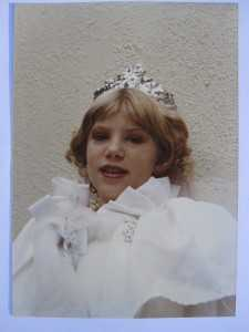 alexandra as a princess for halloween as a child