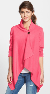 asymmetrical fleece cardigan by bob eau
