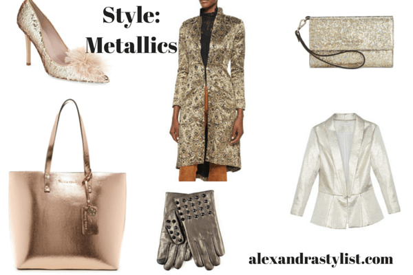 Be stylist with metallics