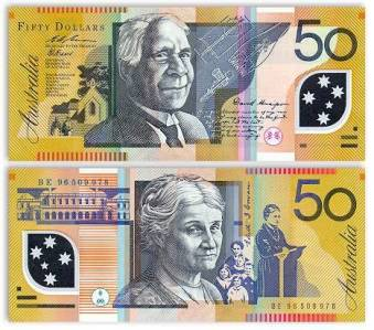 David Unaipon and Edith Cowan. Banknotes.com, Currency Gallery: Australia. http://www.banknotes.com/au.htm
