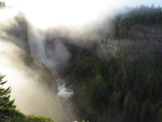 The foggy depths of Helmcken Falls in Wells Grey Provincial Park, B.C. is on the traditional unceded territory of the Simpcw people of the Shuswap Nation. Traditional use by other Aboriginal peoples as well, including the Canim First Nation.