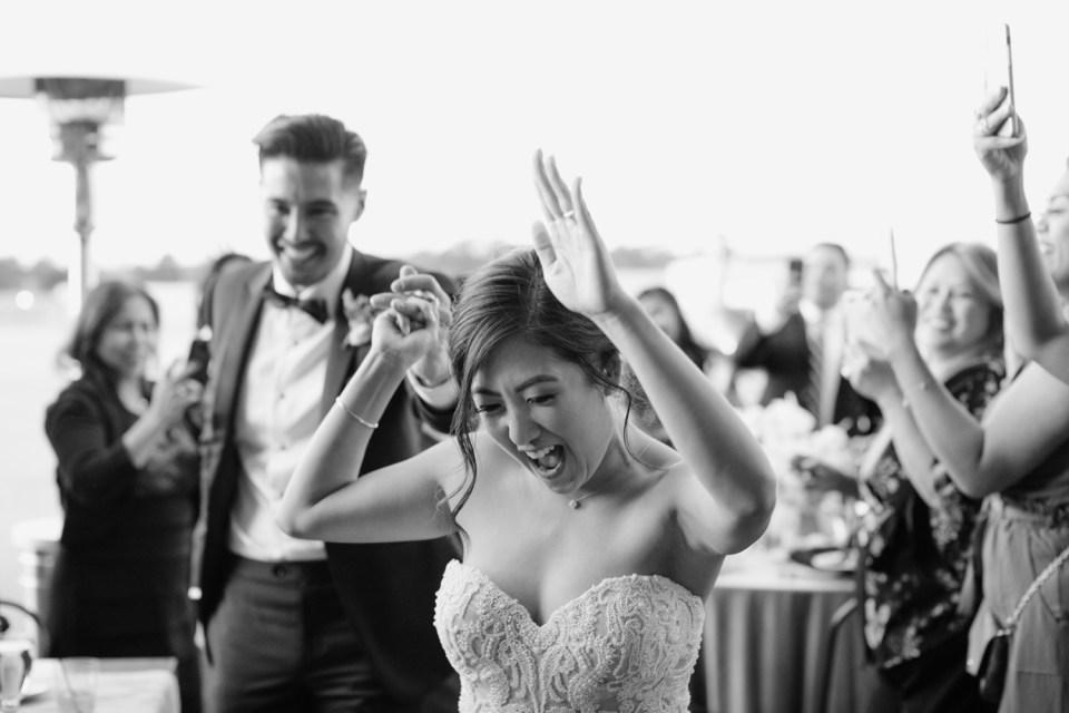 wedding reception at Hangar 21 South