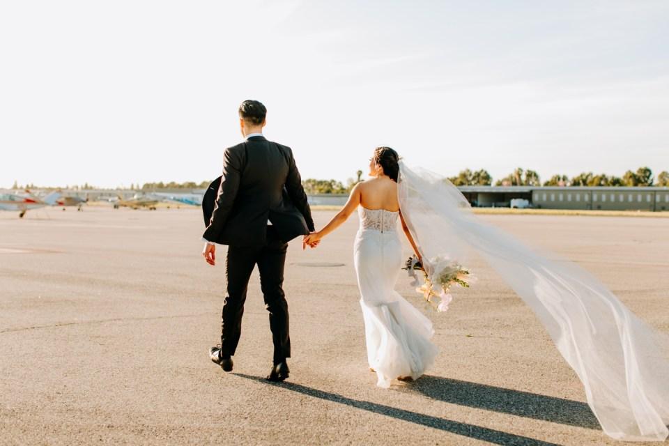 wedding portraits at Hangar 21 South