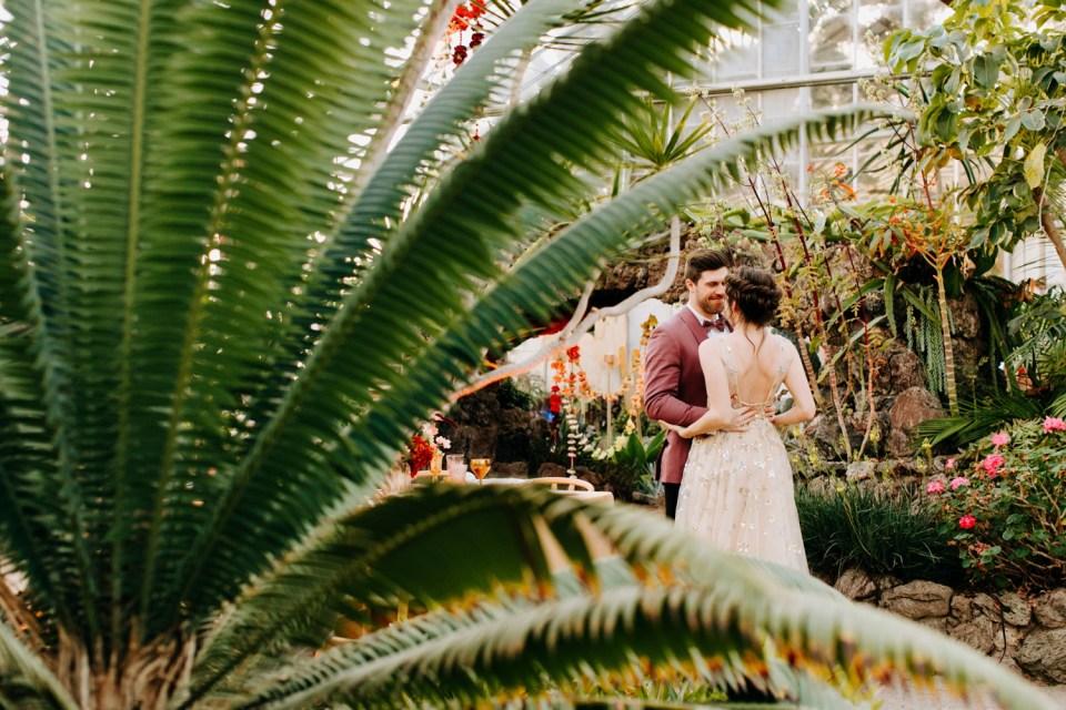 bohemian rainbow watercolor wedding