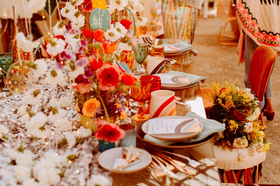 clouds and rainbow wedding decoration