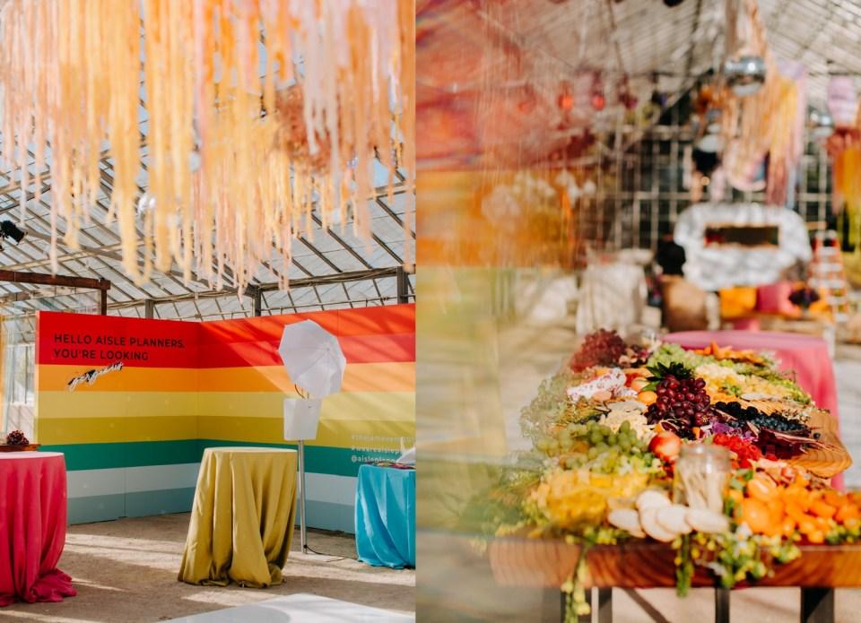 rainbow fruit table