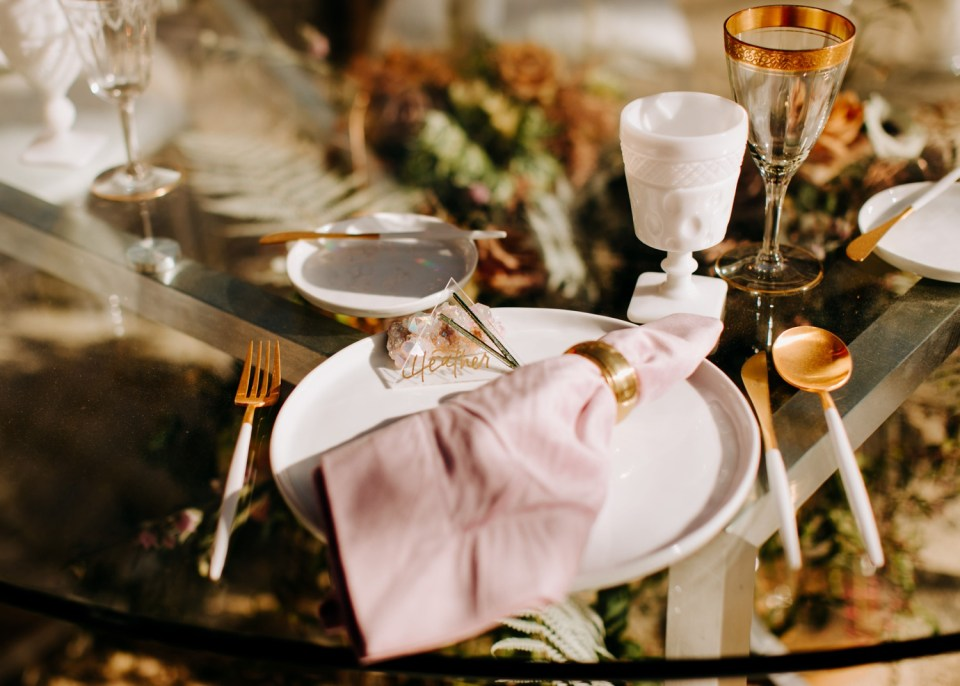 crystal wedding decoration inspiration