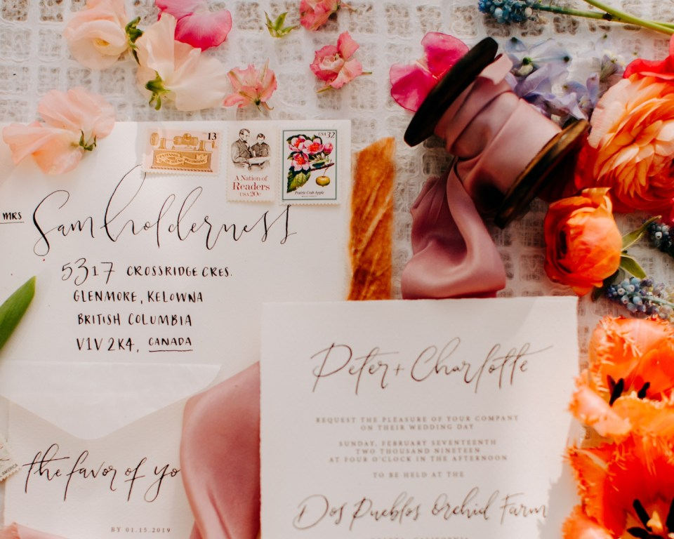 rainbow flower wedding invitations
