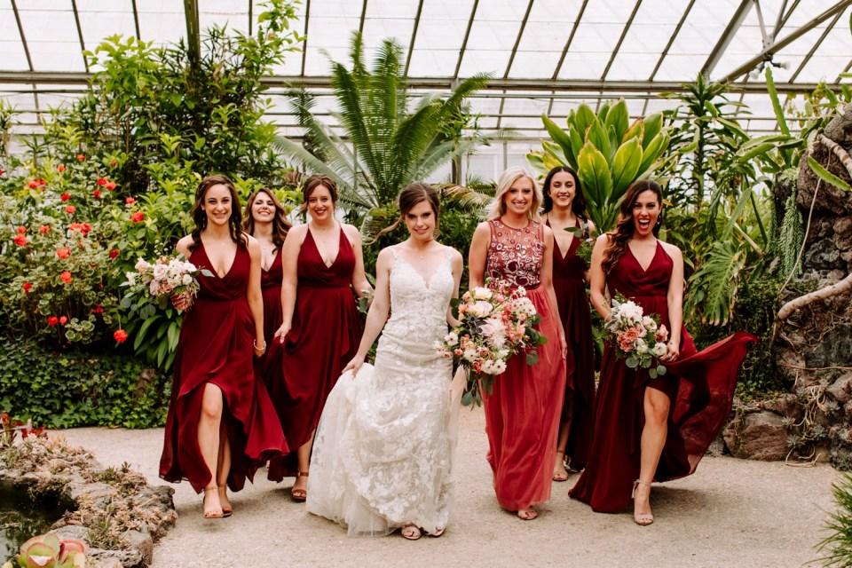 wedding party at dos pueblos orchid farm