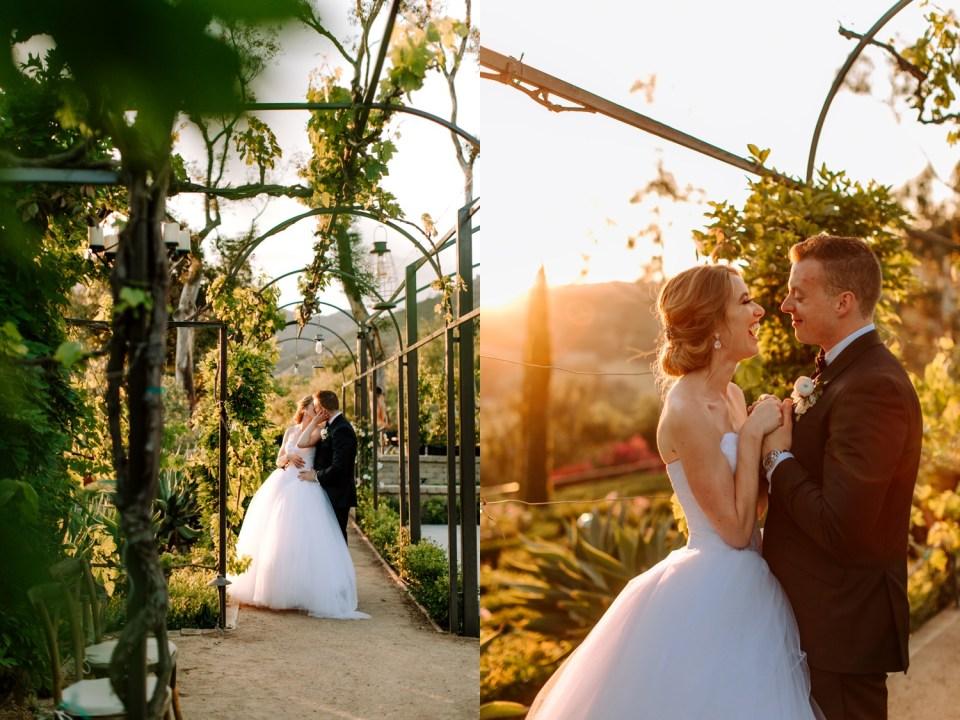 sunset photos of couple at Malibu wedding