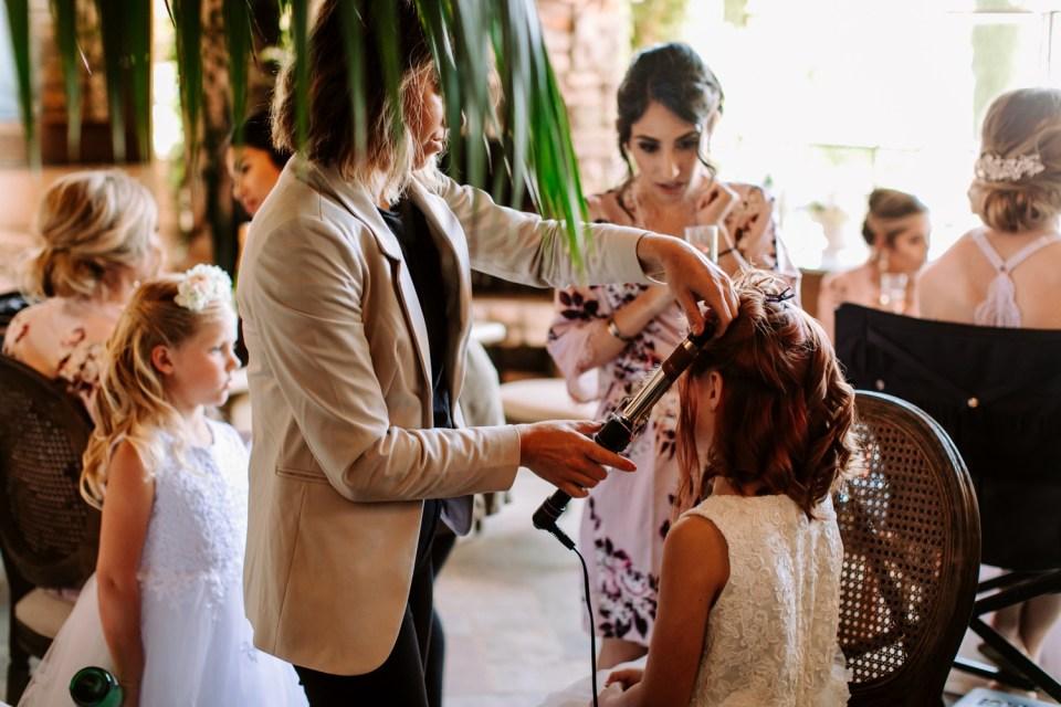 california wedding getting ready photos