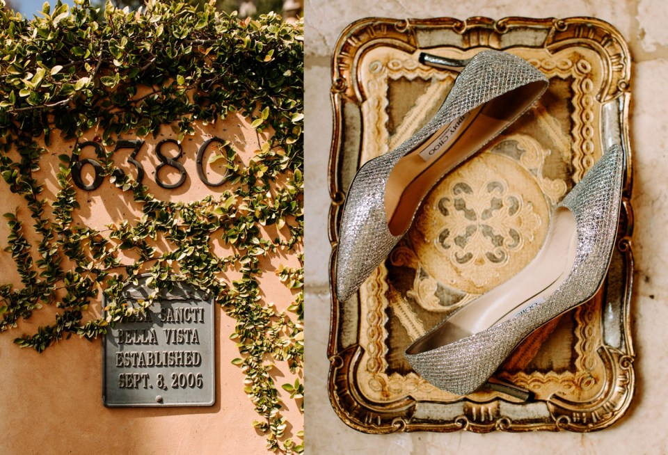 sparkly elegant wedding shoes