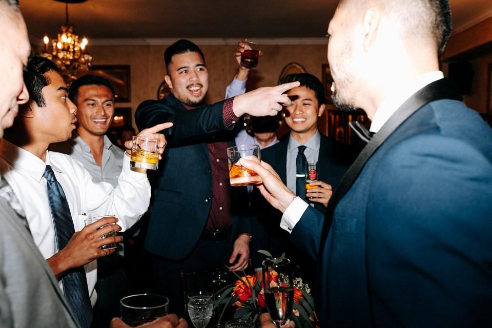 vintage rose wedding reception