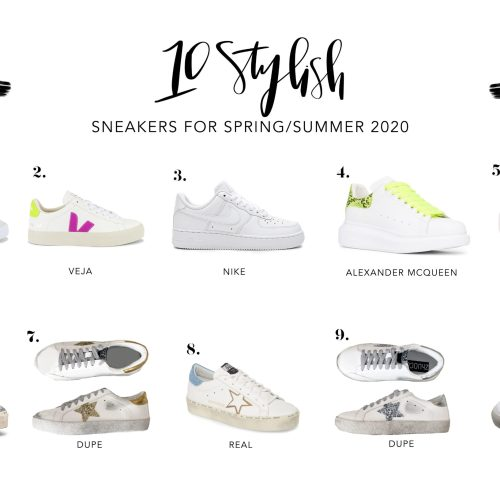 Stylish sneakers for spring and summer