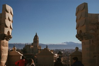 Views from the castle in Segovia, Spain