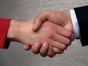 Small Business Networking Shaking Hands