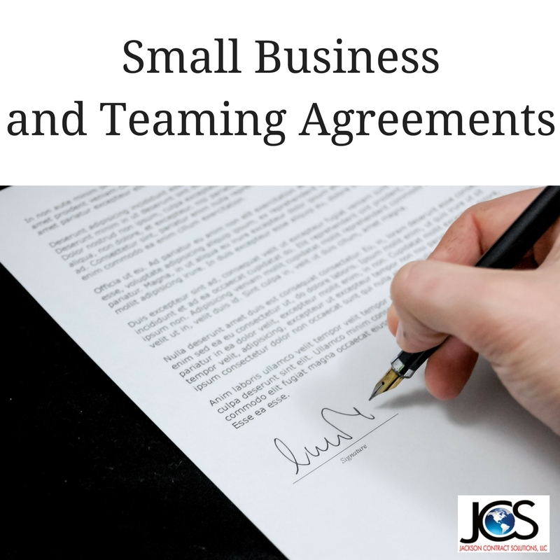Small Business and Teaming Agreements