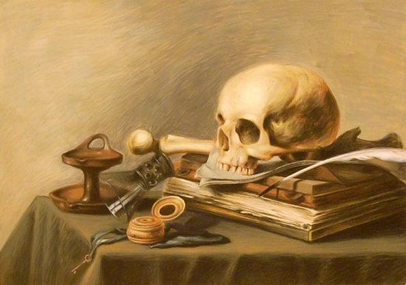Vanitas - study after Pieter Claesz