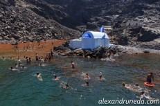 Hot springs at Palea Kameni
