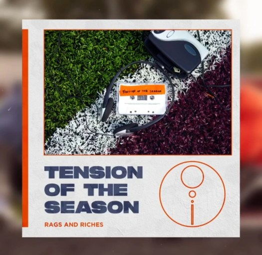 "The cover art for ""Tension of the Season"" by Rags and Riches."