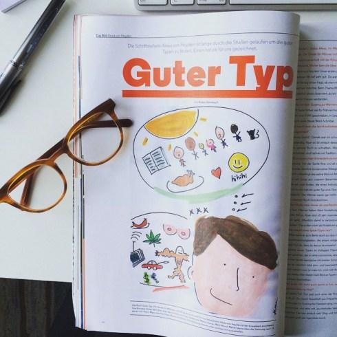 Danke an Ruben Donsbach für dieses Interview in @fraeuleinmagazine über gute Typen! #fraeuleinmagazine #gutertyp