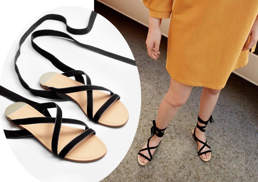 Samt-Sandalen im Valentino-Look von Mango