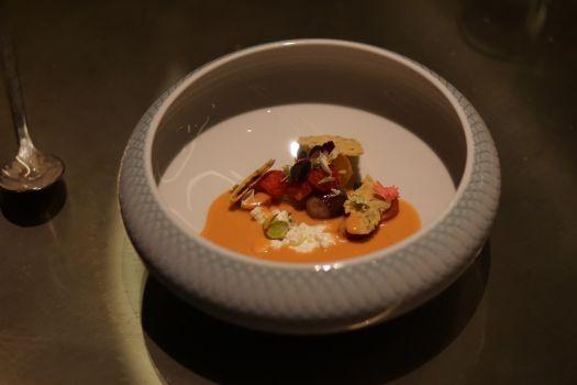Fancy heirloom tomato salad.