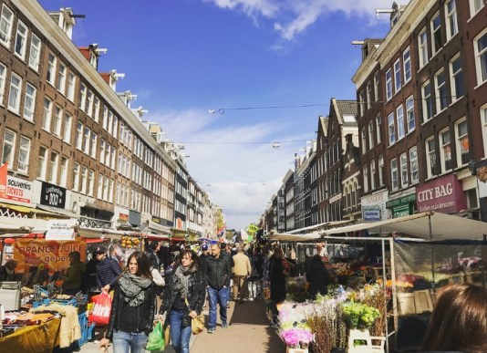 Albert Cuyp Market is so much more relaxed than other markets like Borough in London.