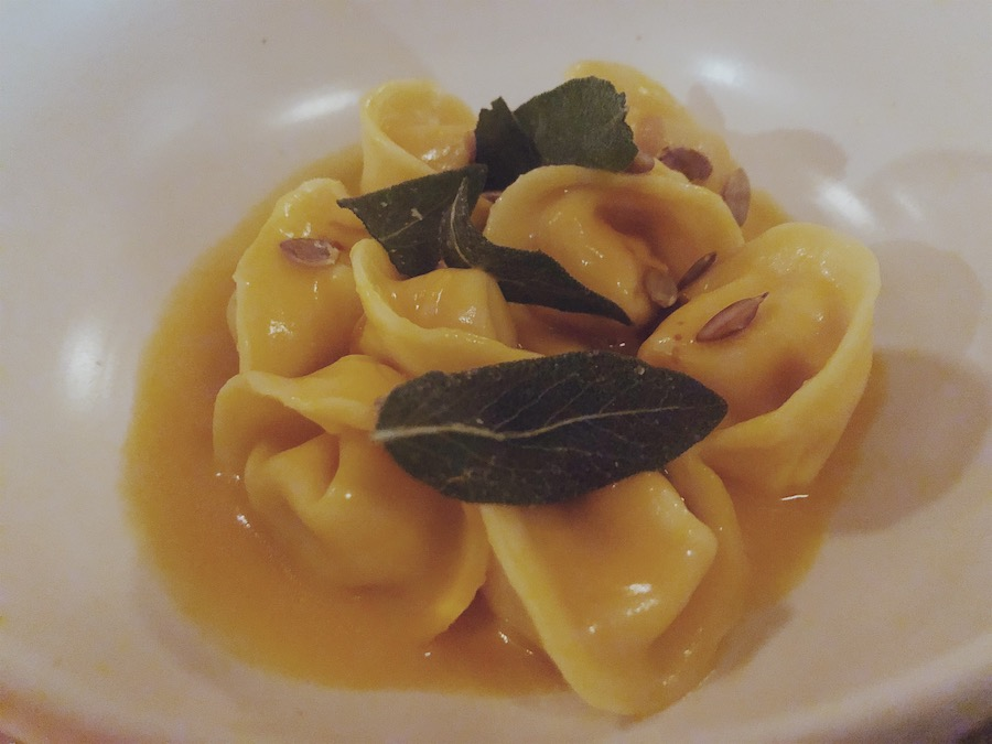 Cappeletti with butternut squash, pepitas, sage, and aged balsamic